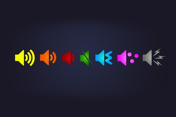 Bright & Bold Audio Icons