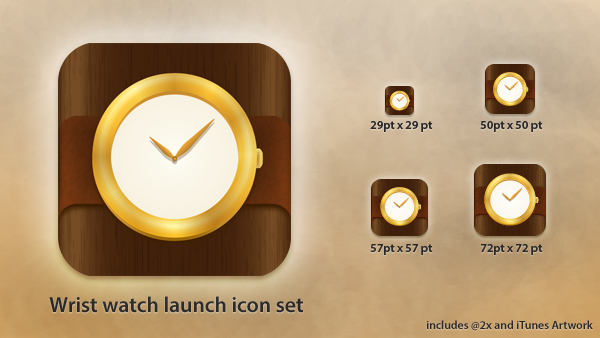 Clock App Icon PSD