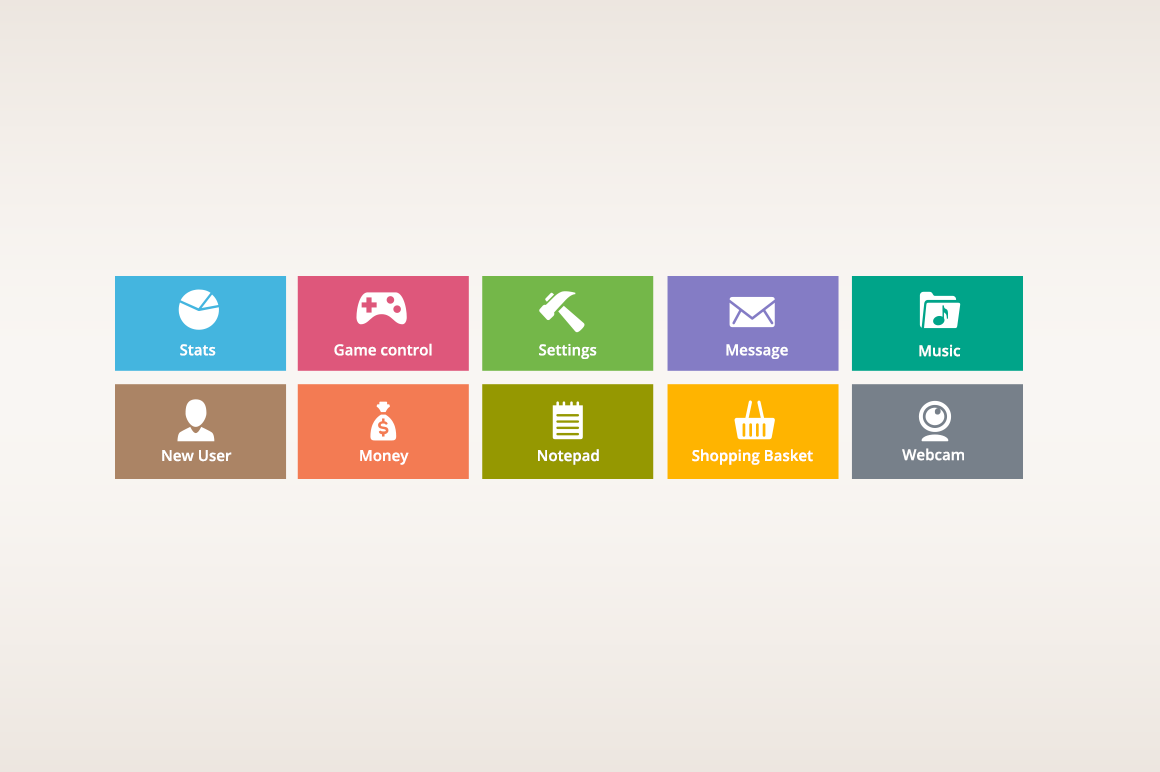 Colourful Flat Icons