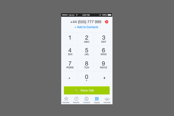 Dialpad Interface - Creative VIP