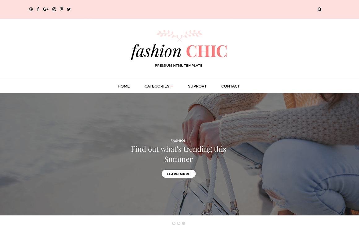 Fashion Chic HTML Template