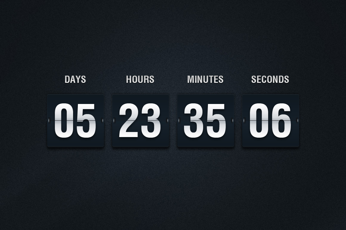 This super-detailed graphic is a countdown timer, including days/hours ...