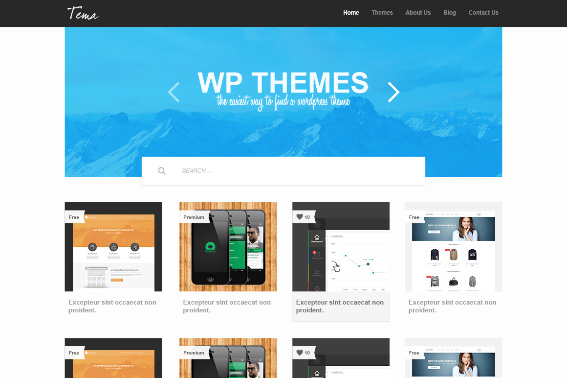Gallery Theme PSD