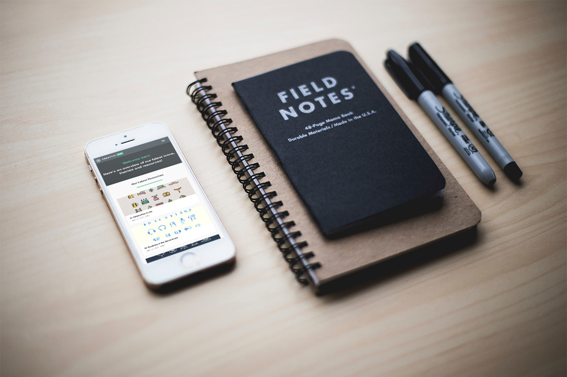 iPhone & Notebook Mockup