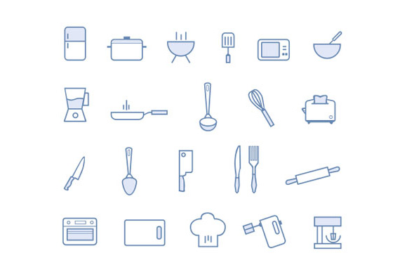 21 Kitchen Icons