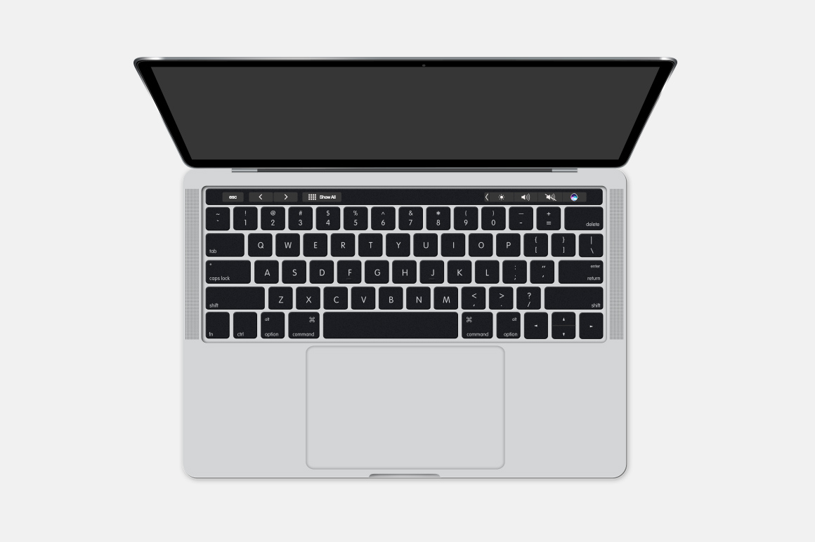 MacBook Pro Touch Bar Mockup