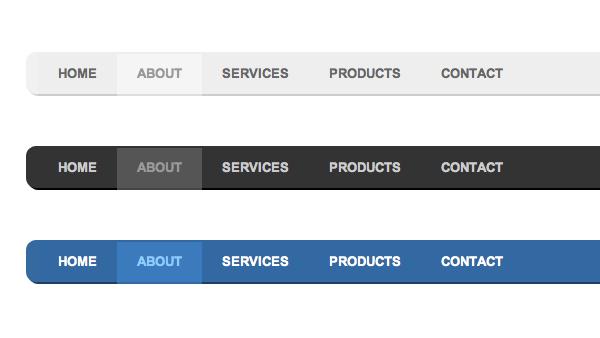 Matte CSS Menu - Creative VIP