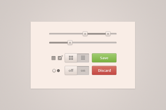 Mini User Interface Kit PSD