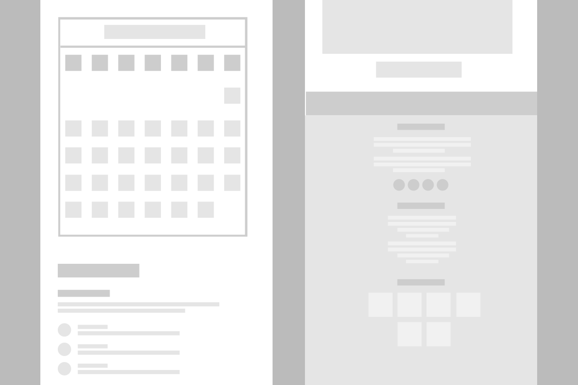 Mobile Wireframe Layout Mockup