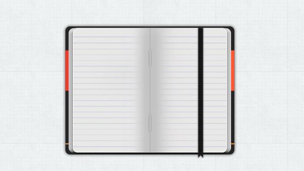 moleskine notebook psd