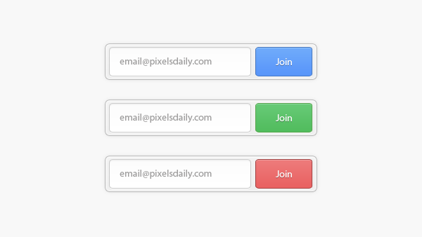 Newsletter Signup Form PSD & CSS