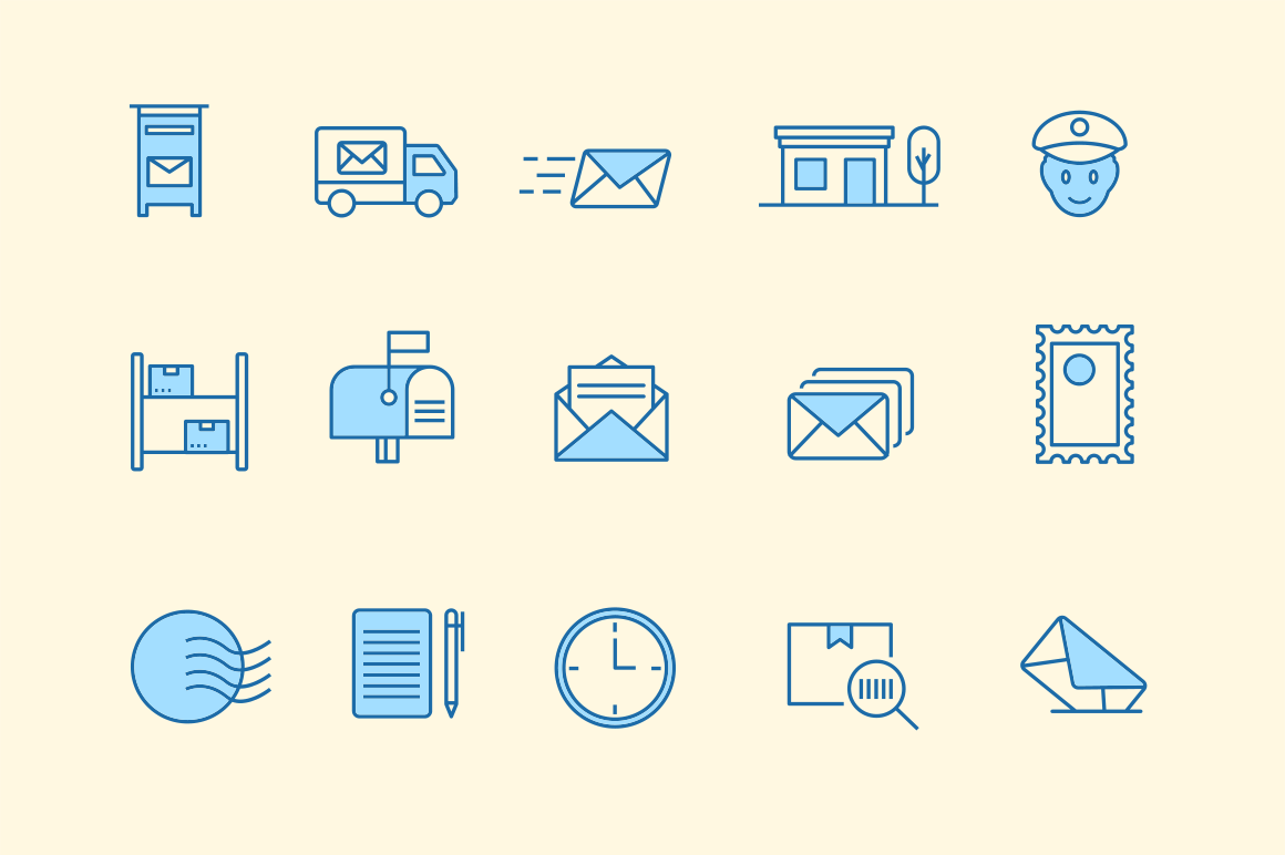 15 Post Office Icons