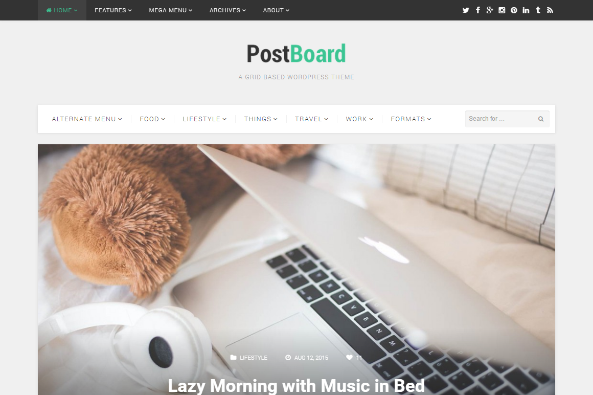 PostBoard HTML Template
