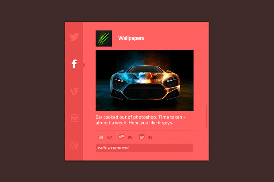 Social App Interface