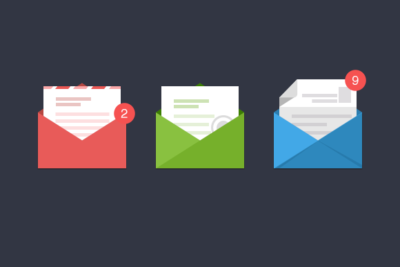 3 Stylish Email Icons