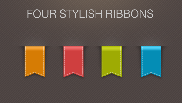 Stylish Ribbons PSD