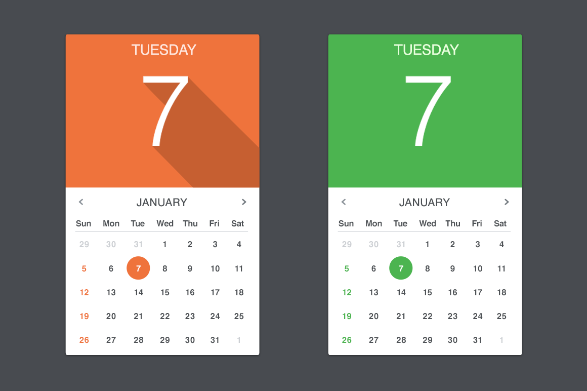 Calendar Design For Website : Vector calendar widget creative vip